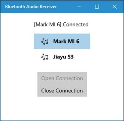 Bluetooth Audio Receiver(手机当电脑音箱)